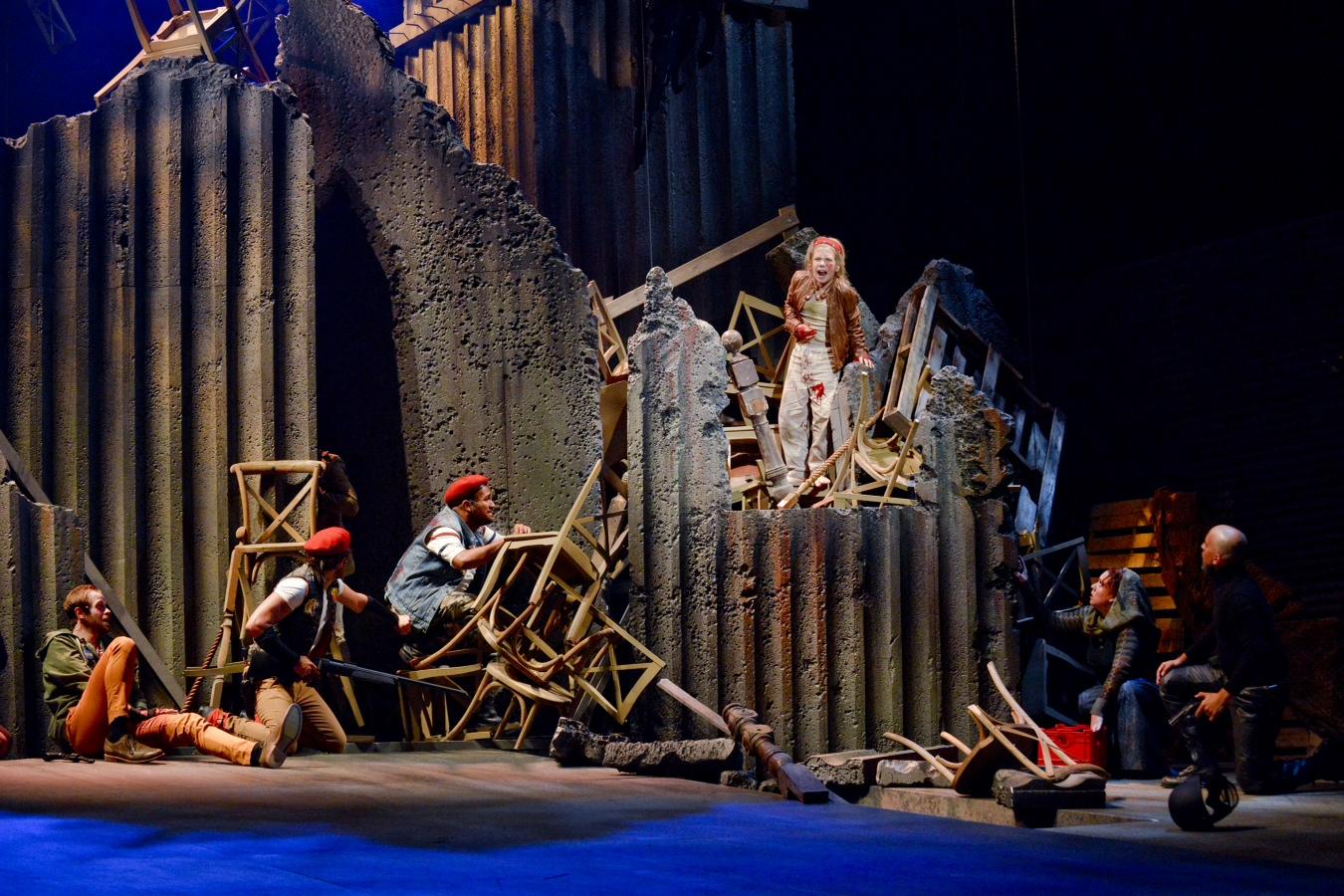 "Mark Hancock portrays Gavroche in the Dallas Theater Center production of ""Les Misérables."" (Photo by Karen Almond)"