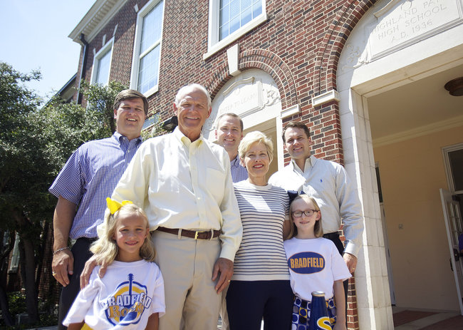 Tom and Suzy Rhodes graduated from Highland Park High School, and so did their five children. A third generation of Rhodeses is expected to follow suit. (Photo by Chris McGathey for Park Cities People)