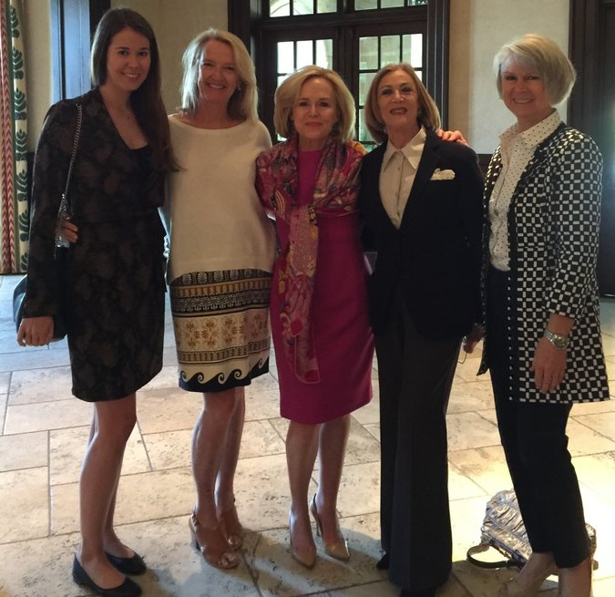 Dave Perry-Miller Real Estate agents with keynote speaker (L-R): McKamy Tiner, Madline Jobst, Elaine Agather, Judith Lifson, Susan Nelson Wheeler