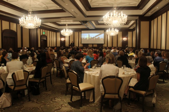 Dave Perry-Miller Real Estate agents gather for their quarterly breakfast meeting at the Dallas Country Club
