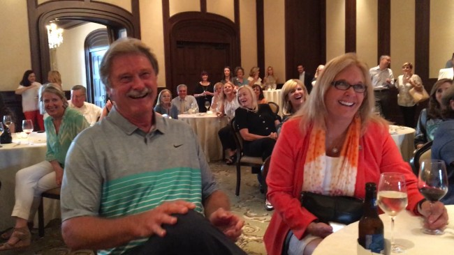 Dean Lewis had the audience laughing as he teased married agents Brian Smith and TAR Chair Leslie Rouda Smith