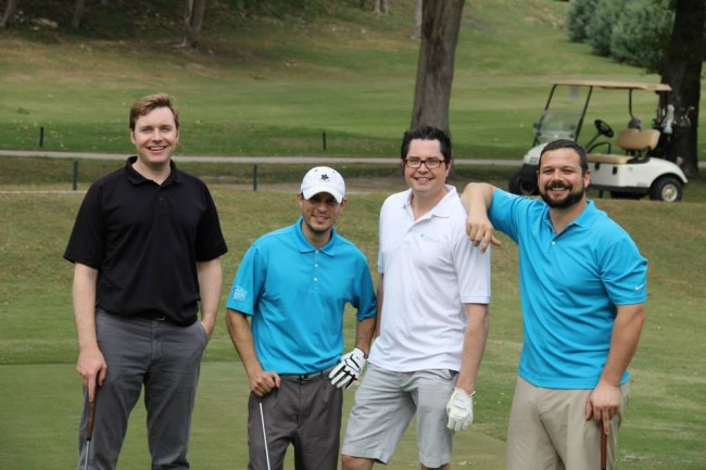 Dave Perry-Miller Real Estate's Ged Dipprey, second from right, at the 2015 Rosemont Dads Club Golf Tournament.