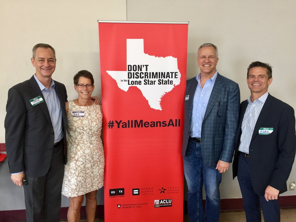 Steve Atkinson, far left, attends Austin Advocacy Day, sponsored by Equality Texas, to meet legislators about LBGT issues.