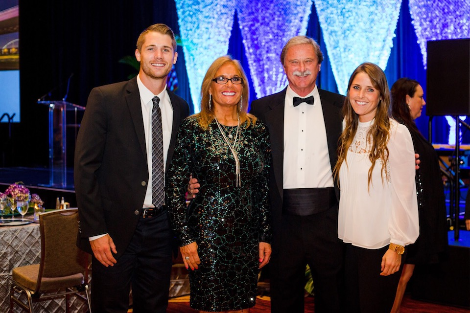 The Smith family (L-R): Austin, Leslie, Brian, Kristin at the Texas REALTORS® Conference at the Hilton Anatole on Sept. 9.