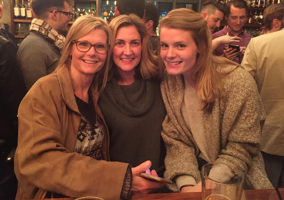 Julie Provenzano, center, at a client happy hour.